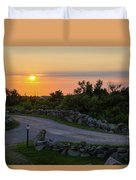 The Sun Sets On Block Island Duvet Cover