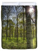 The Sun Touched Forest Duvet Cover