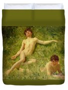 The Sunbathers Duvet Cover