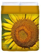 The Sunflower And The Bee Duvet Cover