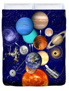 The Sunflower Solar System Duvet Cover