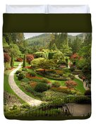The Sunken Garden At Butchart Gardnes Duvet Cover