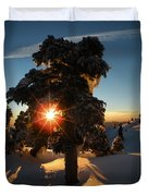 The Sunset Tree  Duvet Cover