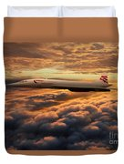 The Supersonic Concorde Duvet Cover