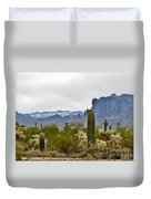 The Superstitions  Landscape Duvet Cover