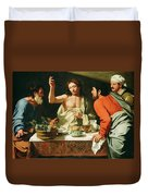 The Supper At Emmaus Duvet Cover