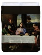 The Supper At Emmaus Duvet Cover by Titian