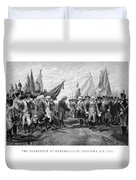 The Surrender Of Cornwallis At Yorktown Duvet Cover