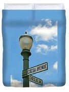 The Sweetest Street Corner In The World Duvet Cover