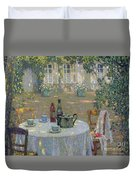 The Table In The Sun In The Garden Duvet Cover by Henri Le Sidaner