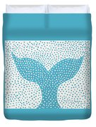 The Tail Of The Dotted Whale Duvet Cover by Deborah Boyd