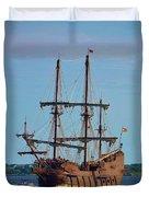 The Tall Ship El Galeon Duvet Cover