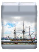The Tall Ship Hermione - Philadelphia Pa Duvet Cover