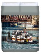 The Tanner On The Icy River Duvet Cover