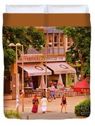 The Tavern On The Plaza - Spain Duvet Cover