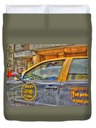 The Taxi Duvet Cover
