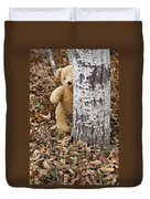 The Teddy Bear In The Woods Duvet Cover