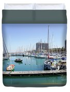 The Tel Aviv Marina  Duvet Cover