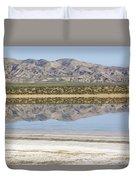 The Temblor Range Is Reflected In Soda Duvet Cover