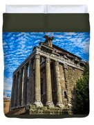 The Temple Of Antoninus And Faustina Duvet Cover