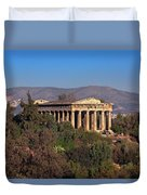 The Temple Of Hephaestus In The Morning, Athens, Greece Duvet Cover