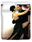 The Temptation Of Tango Duvet Cover