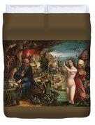 The Temptations Of Saint Anthony Abbot Duvet Cover