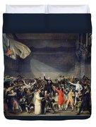 The Tennis Court Oath Duvet Cover by Jacques Louis David