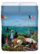 The Terrace At Sainte Adresse Duvet Cover