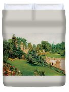 The Terrace Central Park New York Duvet Cover