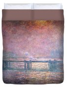 The Thames At Charing Cross Duvet Cover