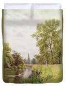 The Thames At Purley Duvet Cover by William Bradley