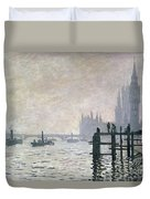 The Thames Below Westminster Duvet Cover