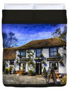 The Theydon Oak Pub Art Duvet Cover