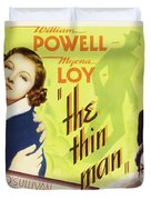 The Thin Man 1934 Duvet Cover