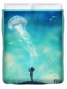 The Thing About Jellyfish Duvet Cover