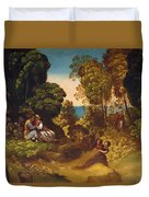 The Three Ages Of Man 1515 Duvet Cover