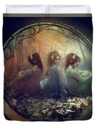 The Three Flowers Duvet Cover