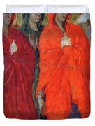 The Three Marys At The Tomb Fragment 1311 Duvet Cover