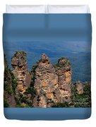 The Three Sisters Katoomba Australia Duvet Cover