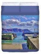The Tide Is Out In The Harbour Duvet Cover