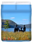 The Tides And The Hudson Duvet Cover