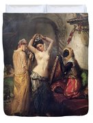 The Toilet In The Seraglio Duvet Cover by Theodore Chasseriau