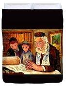 The Torah Scribe Duvet Cover