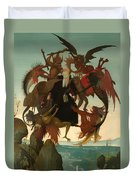 The Torment Of Saint Anthony Duvet Cover