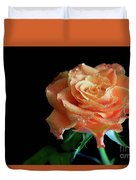 The Touch Of A Rose Duvet Cover by Tracy Hall