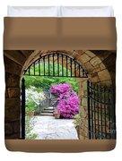 The Tower's Garden Door Duvet Cover