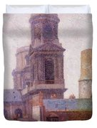 The Towers Saint Sulpice 1887 Duvet Cover