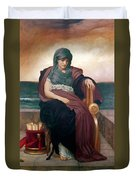 The Tragic Poetess Duvet Cover by Frederic Leighton