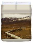 The Trans Alaska Pipeline Duvet Cover